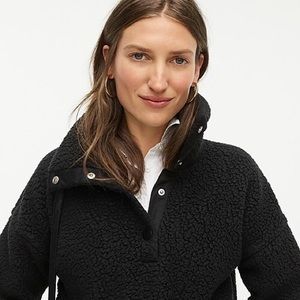 J. Crew snap collar sherpa sweatshirt in fleece